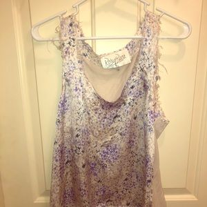 Rory Beca silk floral tank top Size Med